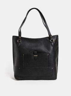 Černá velká koženková kabelka Dorothy Perkins