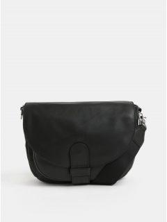 Černá kožená crossbody kabelka BREE