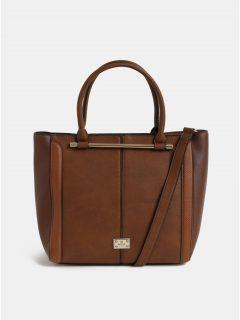 Hnědá velká kabelka s detaily ve zlaté barvě Bessie London