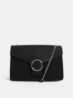 Černá kabelka s detaily ve stříbrné barvě Pieces Kaori
