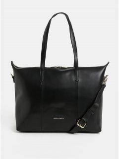 Černá kožená kabelka na notebook Smith & Canova