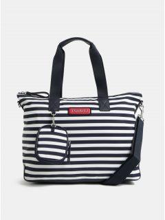 Bílo-modrá pruhovaná kabelka s odnímatelným pouzdrem Tommy Hilfiger
