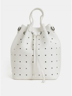 Bílá děrovaná vaková kabelka/batoh Claudia Canova Danay