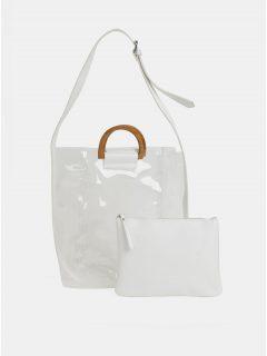 Transparentní kabelka s pouzdrem 2v1 Pieces Celisa