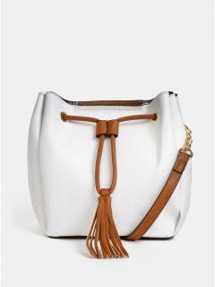 Bílá vaková crossbody kabelka Gionni Mary