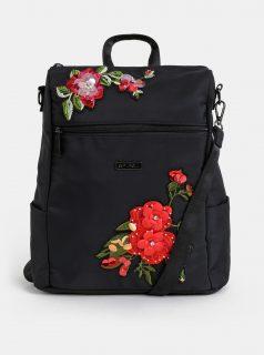 Černý dámský květovaný batoh/kabelka Spiral Agenda