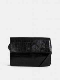 97bb642ea Černá crossbody kabelka s krokodýlím vzorem Pieces Julie