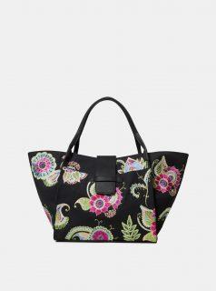 Černá květovaná kabelka Desigual Anubis Zaria