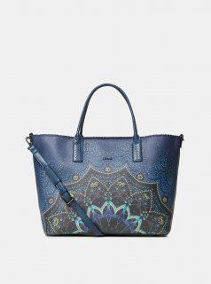 Tmavě modrá vzorovaná kabelka Desigual Tekila
