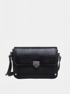 Černá crossbody kabelka s hadím vzorem Bessie London