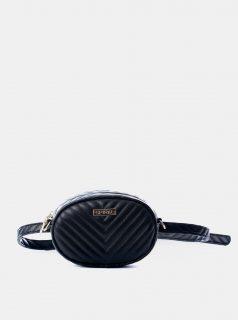 Černá ledvinka/crossbody kabelka Spiral