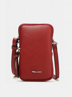 Červená malá crossbody kabelka/pouzdro na telefon Tamaris