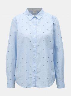 Modrá vzorovaná košile Jacqueline de Yong Eddie