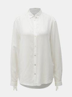 Bílá košile se zavazováním na rukávech Yerse