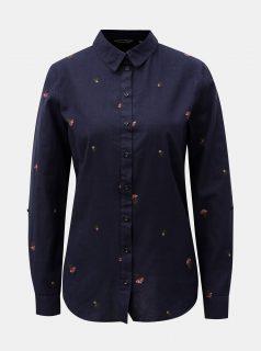 Tmavě modrá košile s příměsí vlny Dorothy Perkins