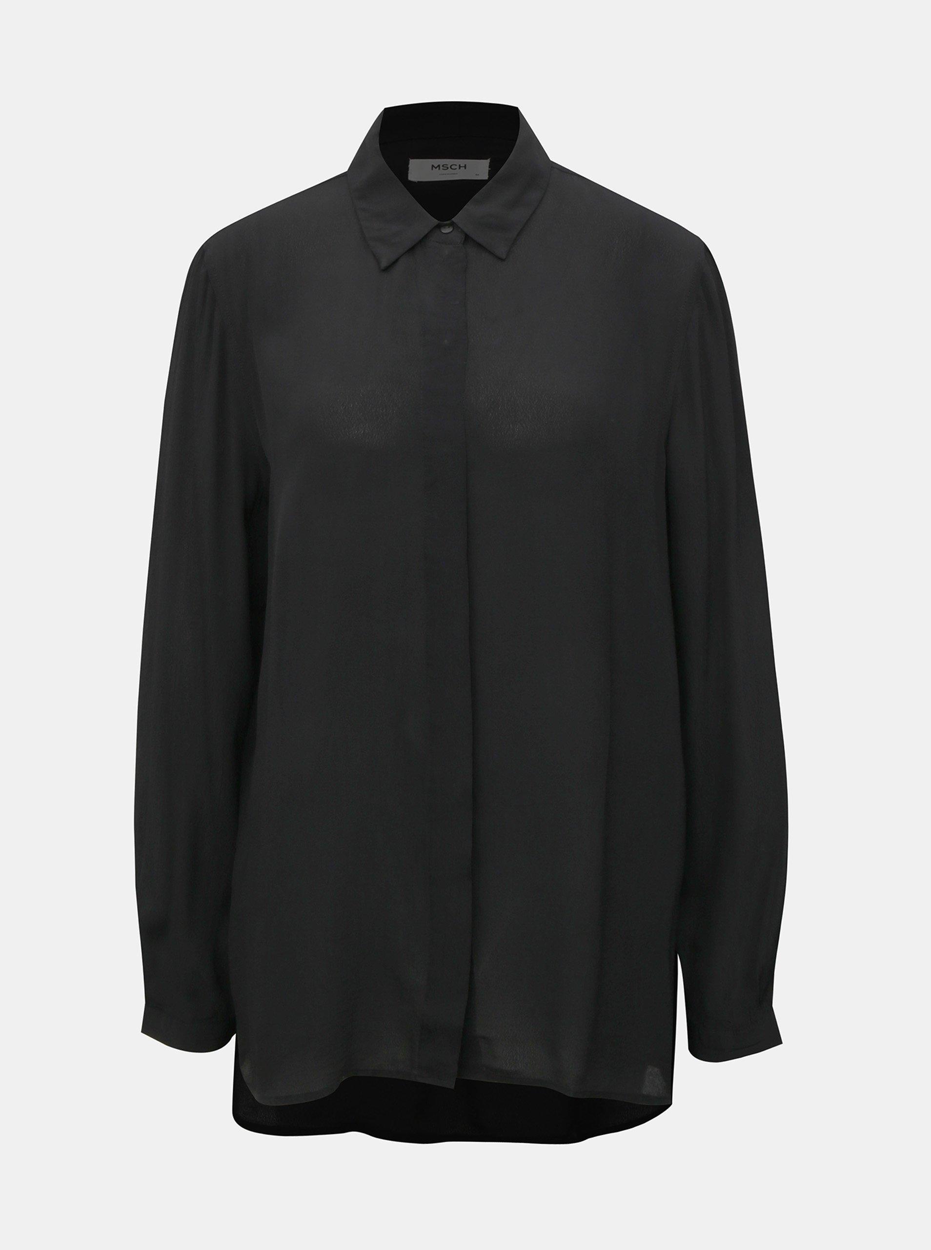 Černá lehká košile Moss Copenhagen Blara