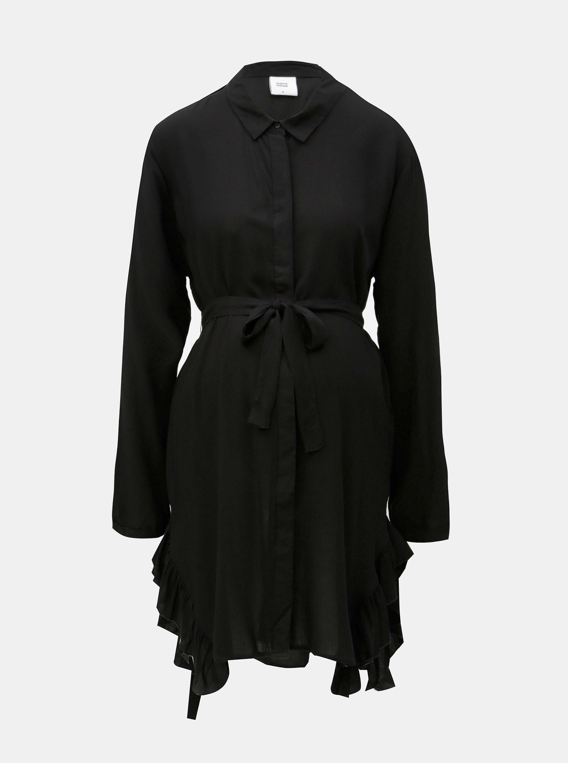 Černá těhotenská/kojicí dlouhá košile Mama.licious Blue Bell