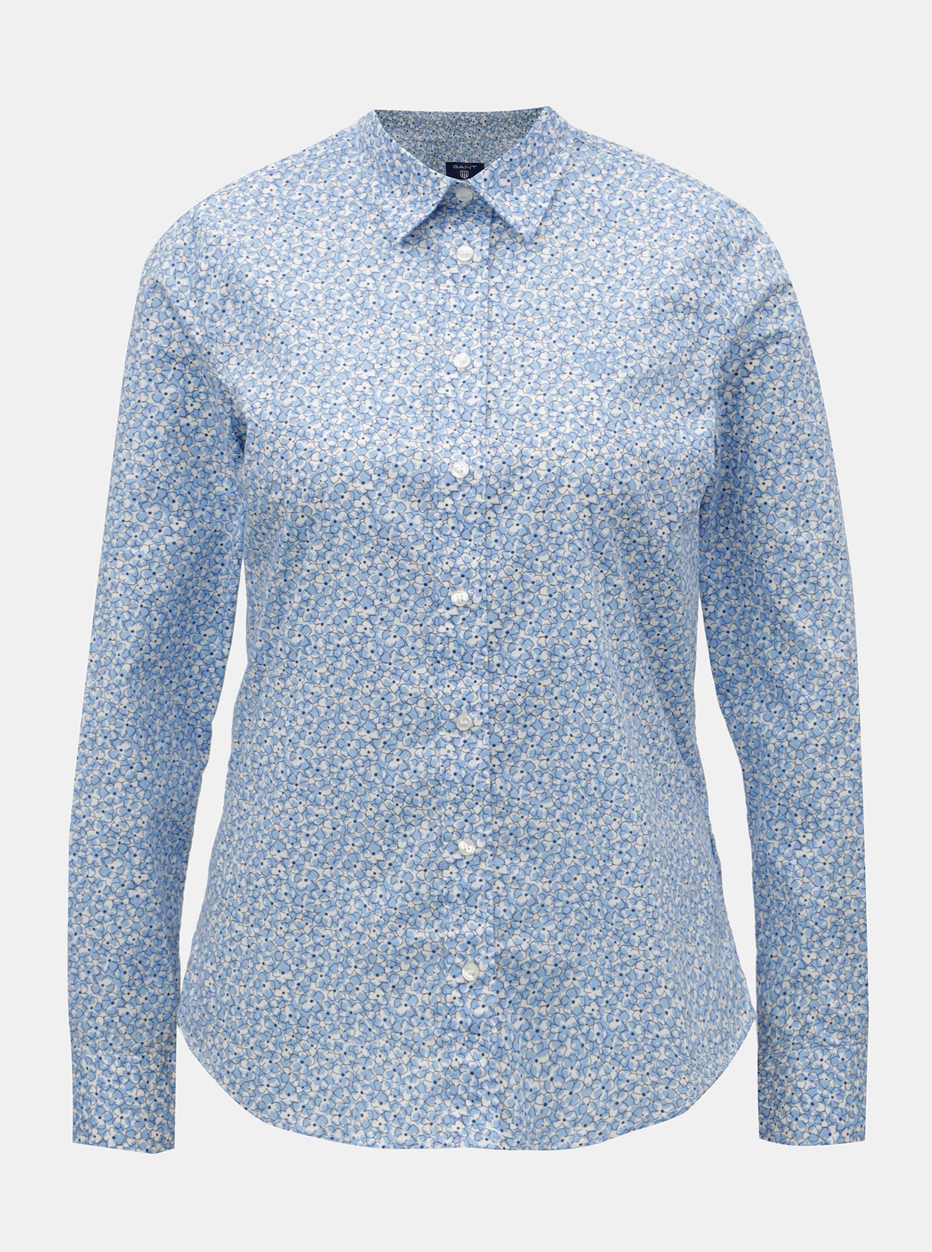 813f2081e4c Světle modrá dámská květovaná košile GANT - Dámské košile