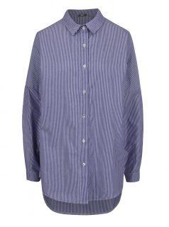 Tmavě modrá pruhovaná volná košile ZOOT