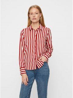 Červeno-bílá pruhovaná košile VERO MODA Nicky