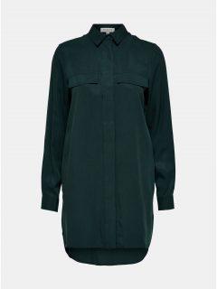 Tmavě zelená košile s prodlouženou délkou Selected Femme Frita