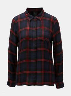Červeno-modrá károvaná košile ONLY