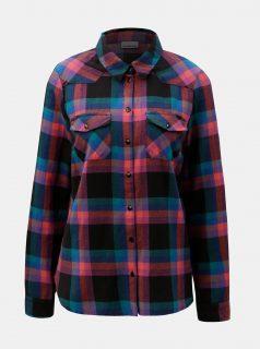 Černo-fialová flanelová košile Noisy May