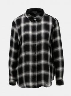 Bílo-černá károvaná košile s metalickým vláknem Jacqueline de Yong Frans