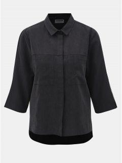 Tmavě šedá košile s 3/4 rukávem Noisy May Kira