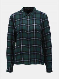 Černo-zelená károvaná košile ONLY