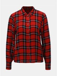 Černo-červená károvaná košile ONLY