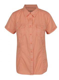 Oranžová dámská košile s krátkým rukávem BUSHMAN Tees