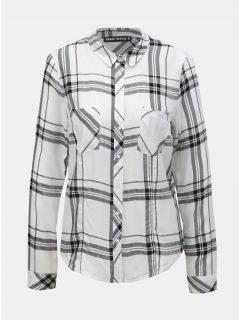 Černo-bílá kostkovaná košile s náprsními kapsami TALLY WEiJL