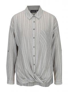 Světle šedá dámská pruhovaná košile Broadway Anju