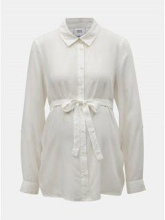 Krémová těhotenská košile Mama.licious Majbrit