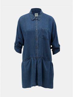 Modrá dlouhá džínová košile ONLY Klinn