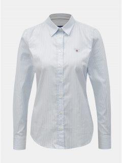 Bílo-modrá dámská pruhovaná slim košile GANT