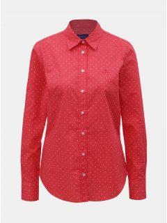 Červená dámská puntíkovaná košile GANT