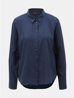 Tmavě modrá puntíkovaná košile VERO MODA Nicky