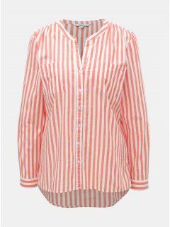 Korálová pruhovaná košile ONLY Fmint