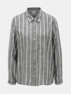 Šedá pruhovaná košile Jacqueline de Yong Janine
