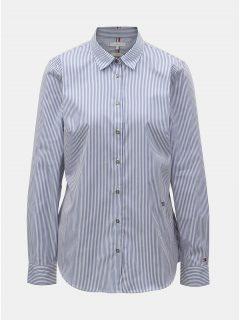 Bílo-modrá dámská pruhovaná fitted košile Tommy Hilfiger Essential