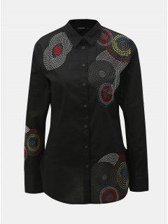 Černá košile s výšivkou Desigual Sintra