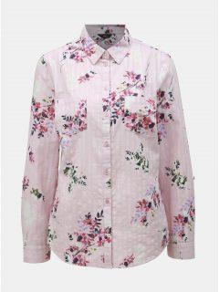 Růžová květovaná košile M&Co