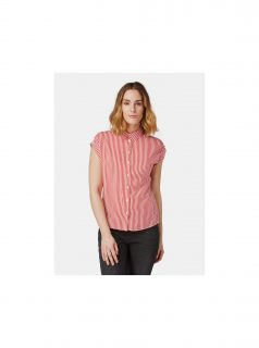 Červená dámská pruhovaná košile Tom Tailor