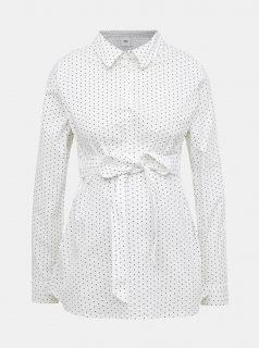 Bílá těhotenská puntíkovaná košile Mama.licious Lenna