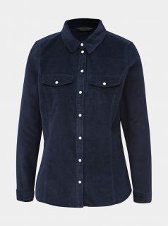 Tmavě modrá manšestrová košile Dorothy Perkins