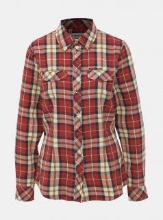 Červená dámská kostkovaná košile BUSHMAN Mineola