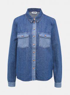 Modrá džínová košile Noisy May Mina