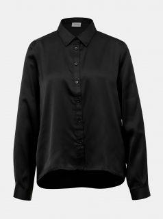 Černá saténová košile Jacqueline de Yong Fifi